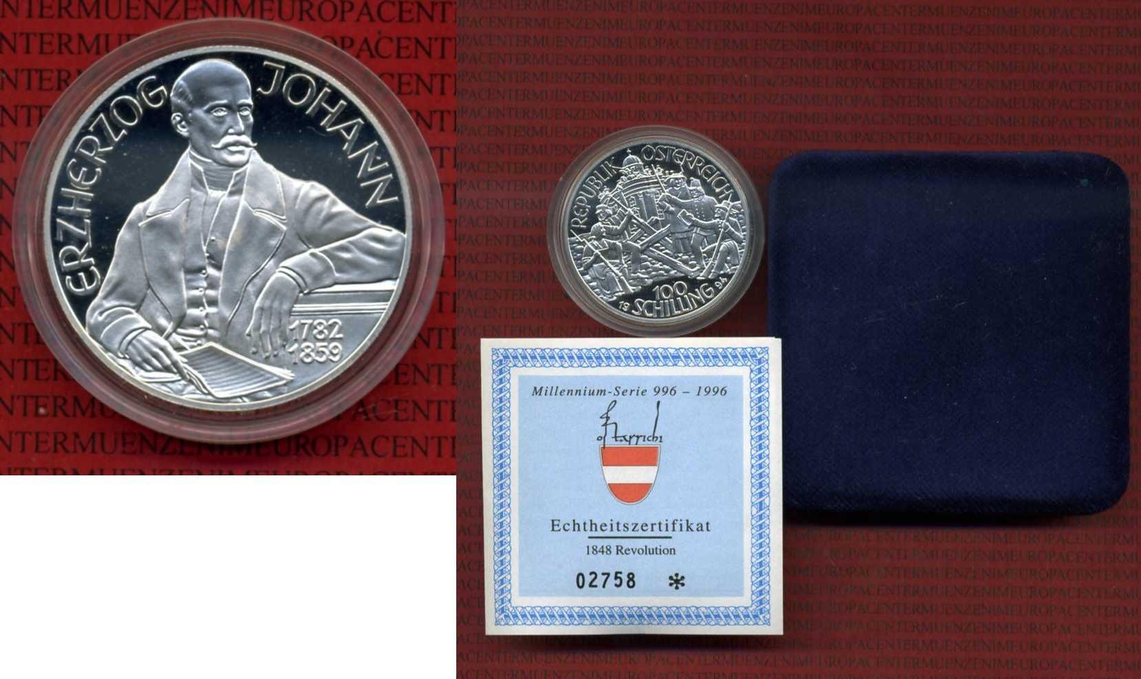 100 Schilling Silbermünze 1994 österreich Austria österreich 100