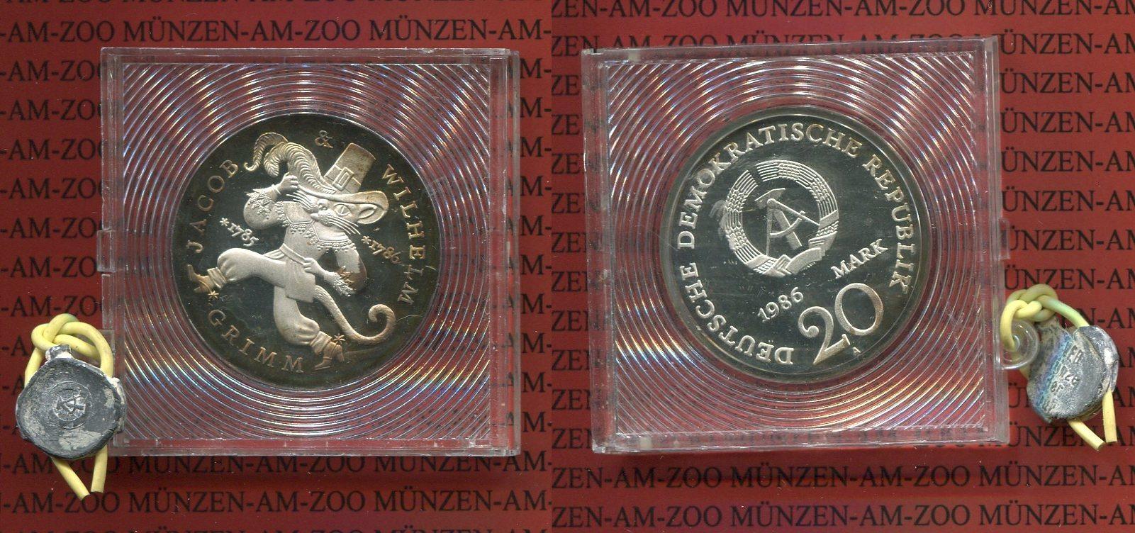 20 Mark Silbermünze Ddr 1986 Ddr Ddr 20 Mark 1986 A Gebrüder Grimm