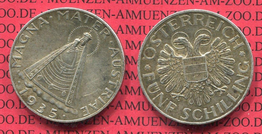 5 Schilling Silbermünze 1935 österreich österreich 5 Schilling 1935