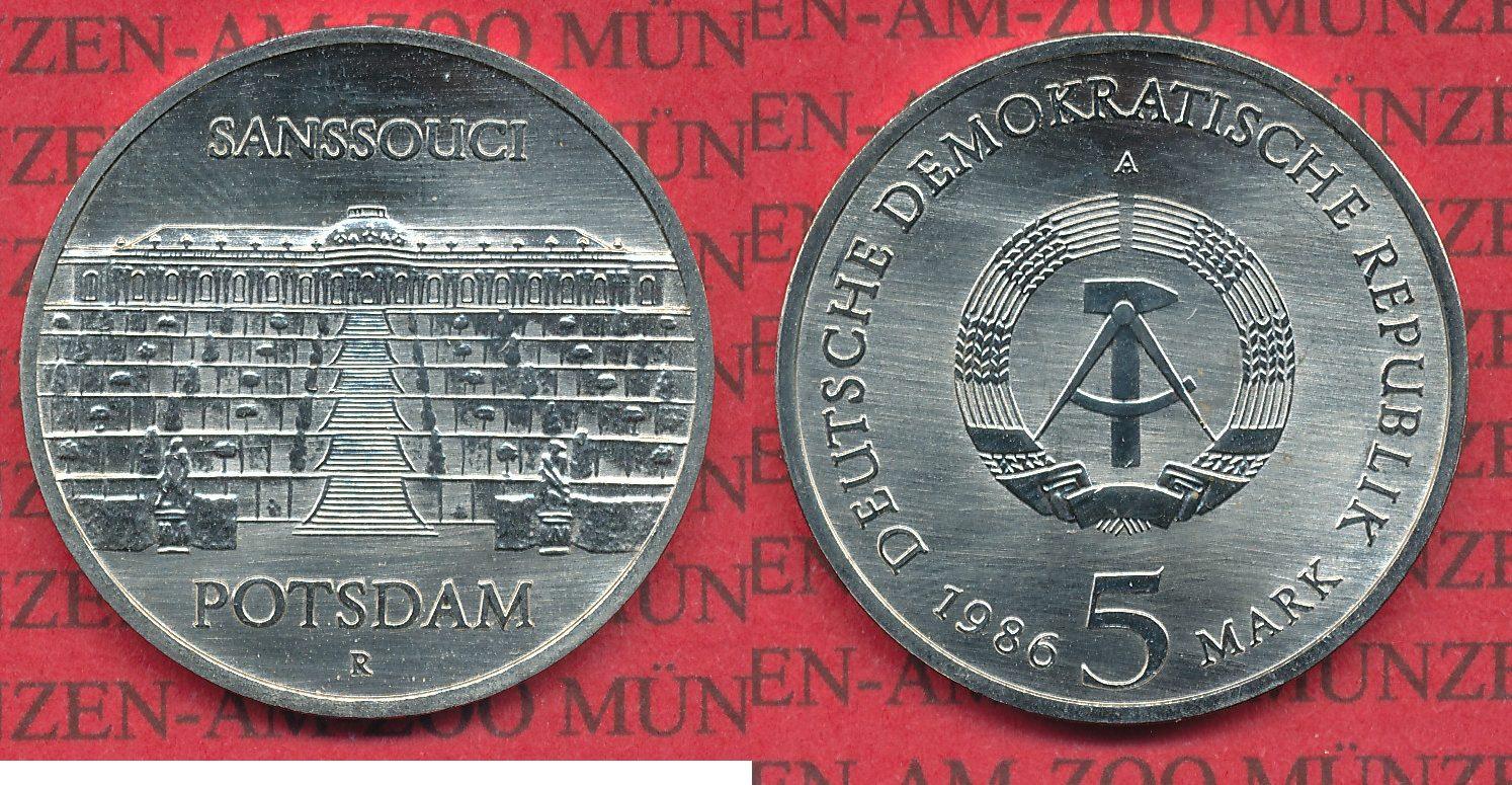5 mark ddr cu ni gedenkm nze 1986 deutsche demokratische. Black Bedroom Furniture Sets. Home Design Ideas