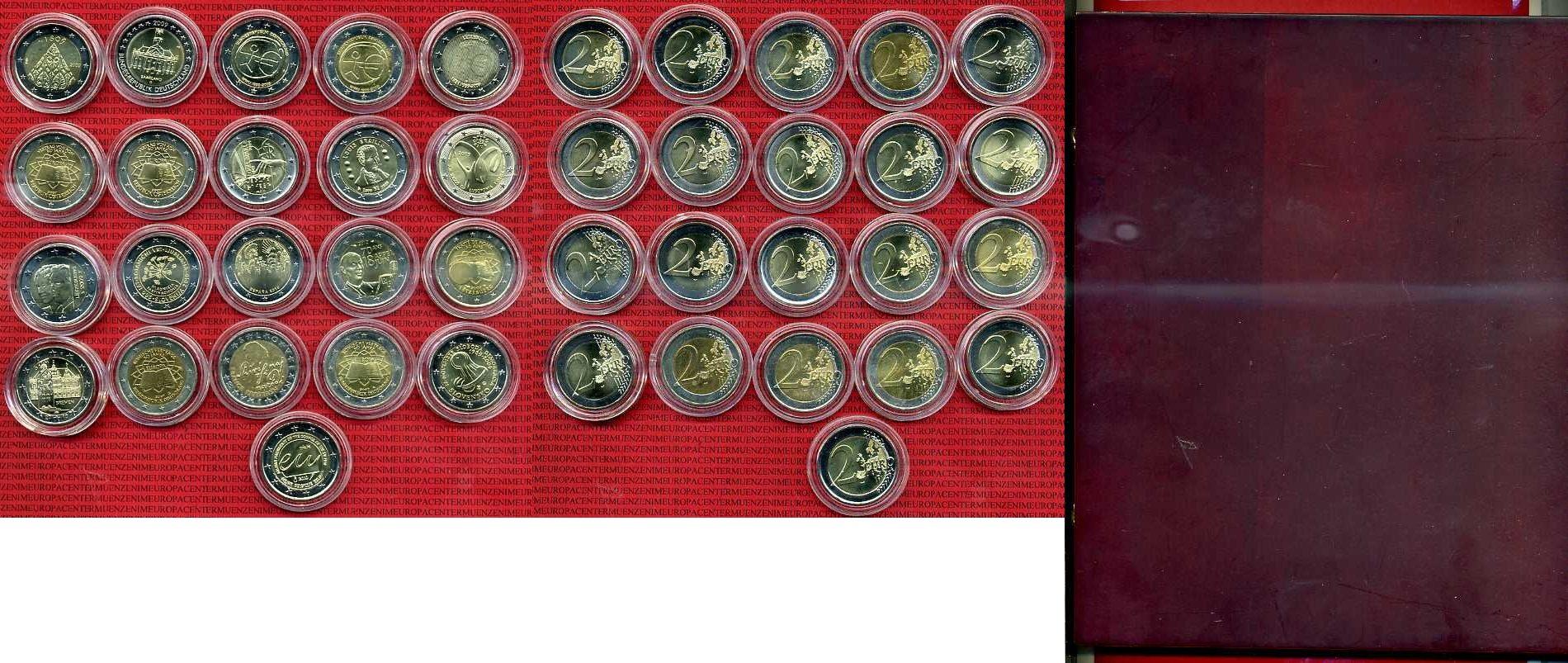 21 X 2 Euro Bimetall Verschiedener Europa 2 Euro Münzen 21 X 2 Euro