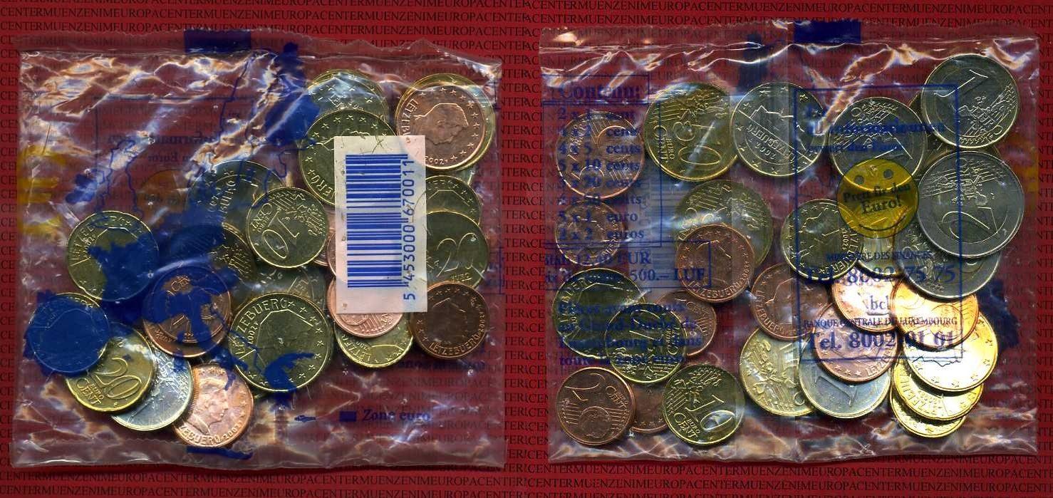12,40 Euro Nominalwert 2002 Luxemburg Starterkit unedel