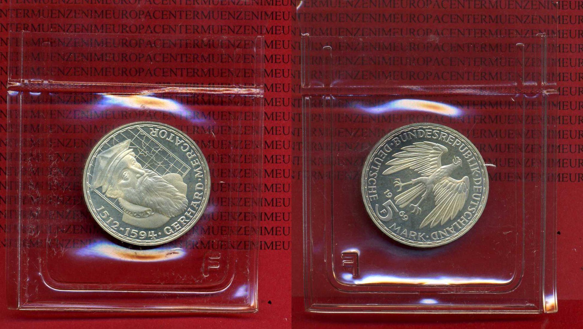5 Dm Gedenkmünze Silber 1969 Bundesrepublik Deutschland