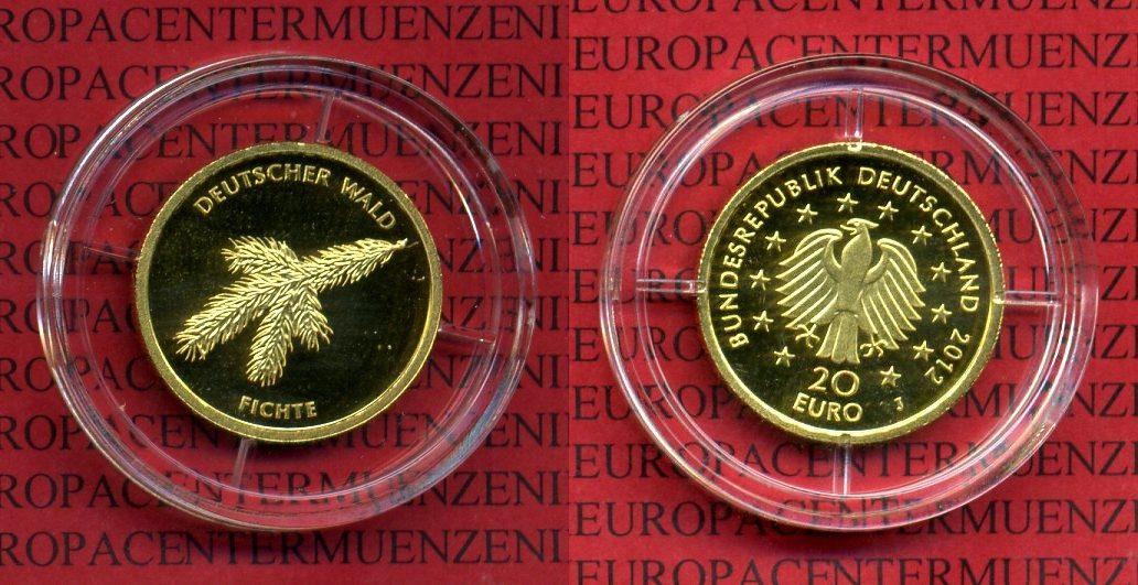 20 euro goldm nze 1 8 unze 2012 j deutschland brd deutschland brd 20 euro gold 2012 j wald. Black Bedroom Furniture Sets. Home Design Ideas