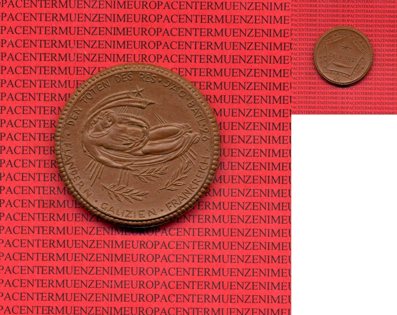 medaille aus porzellan 1921 deutsches reich deutsches. Black Bedroom Furniture Sets. Home Design Ideas