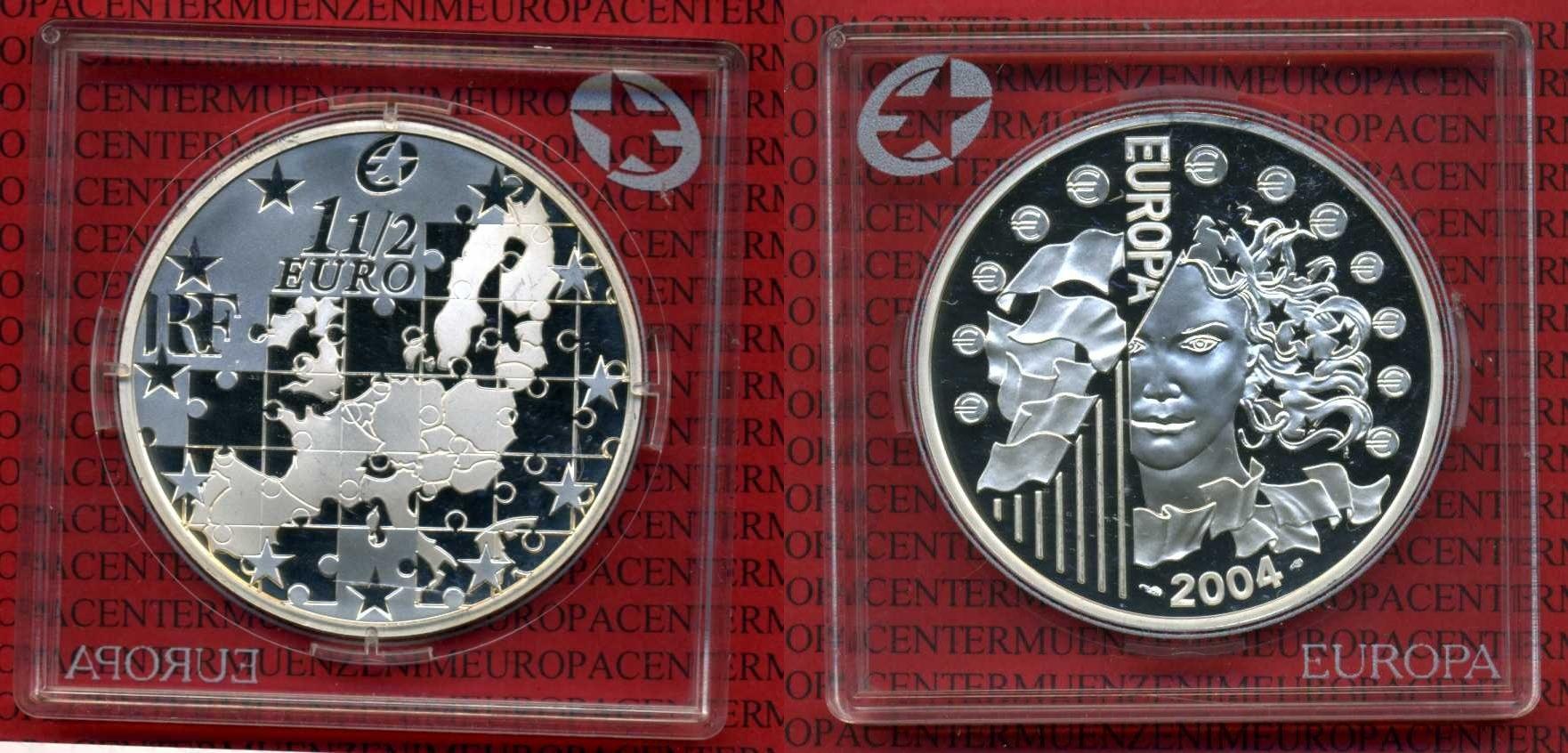 1 12 Euro Silbermünze 15 Euro 2004 Frankreich Frankreich 2004 1