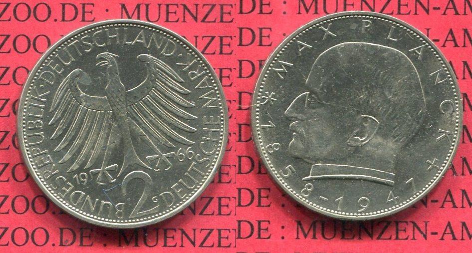2 Dm Max Planck 1966 G Bundesrepublik Deutschland Brd 2 D Mark Max