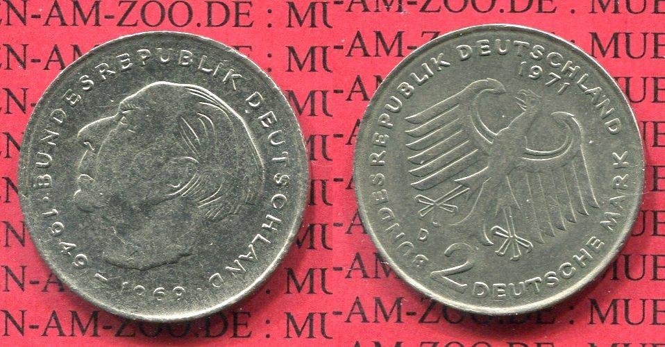 2 Dm Fehlprägung 1971 D Bundesrepublik Deutschland 2 Dm 1971 D