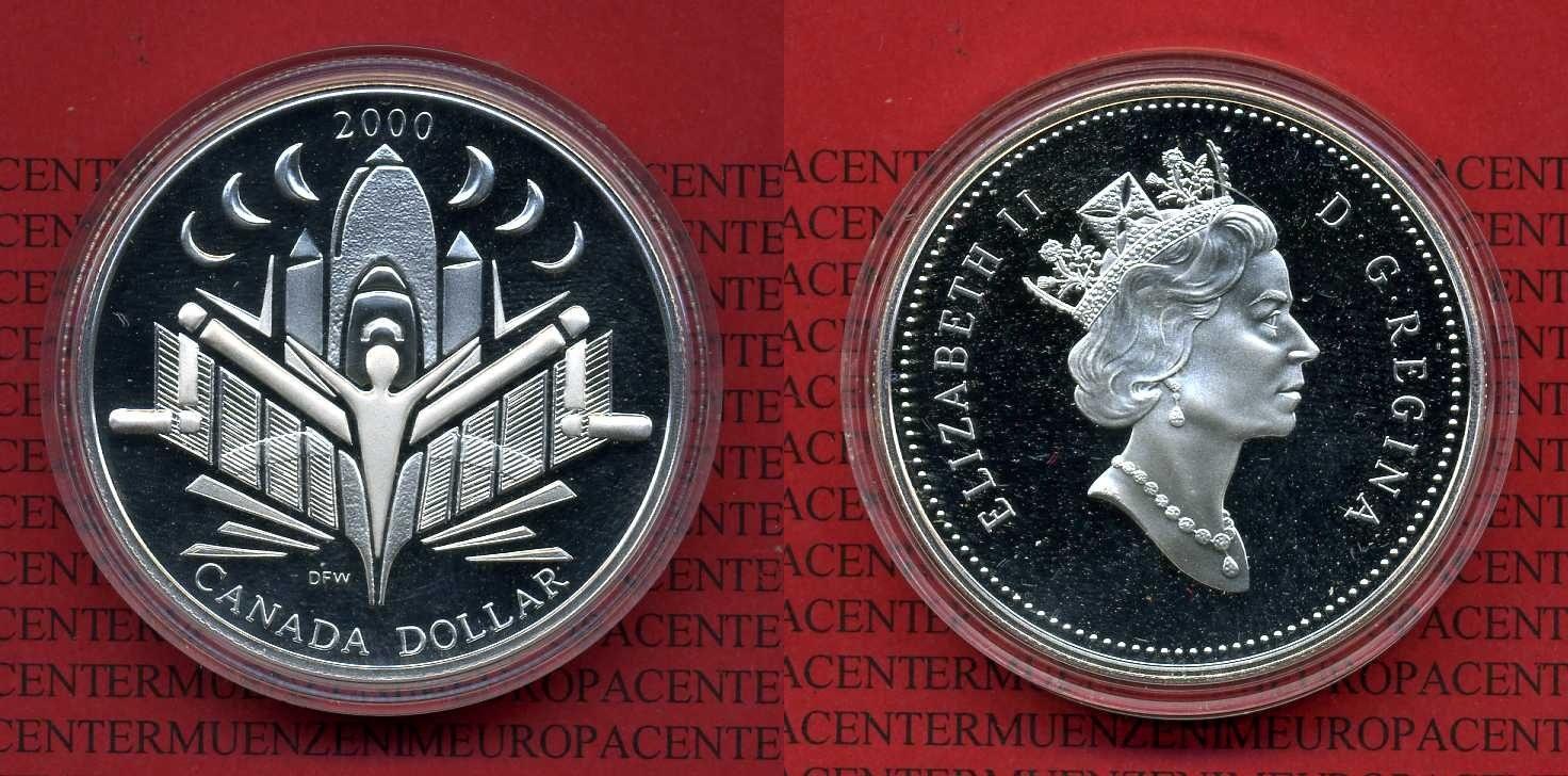 1 Dollar Silbermünze 2000 Kanada Canada Kanada 1 Dollar Silber 2000
