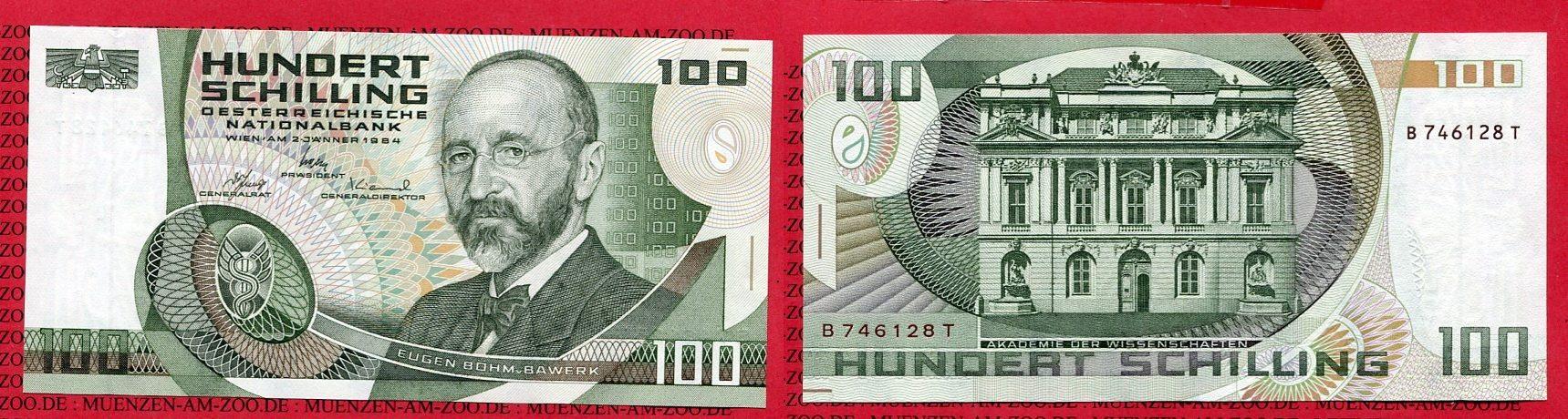 100 Schilling Banknote 1984 österreich Austria österreich 100