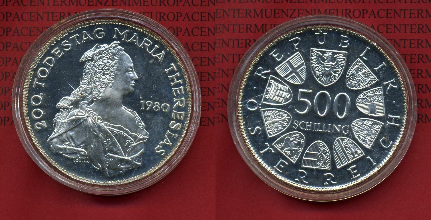 500 Schilling Silber Commemorative Coin 1980 österreich Austria