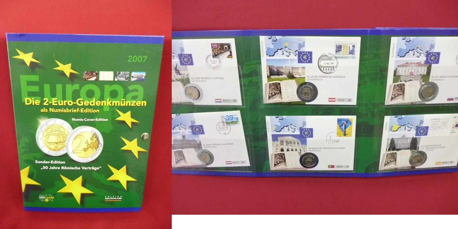 13 X 2 Euro Gedenkmünze 2007 Euro Zone Brd Frankreich Niederlande