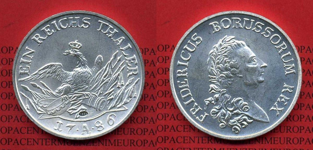 Silber Nachprägung 1986 Deutschland Nachprägung Von Preußen