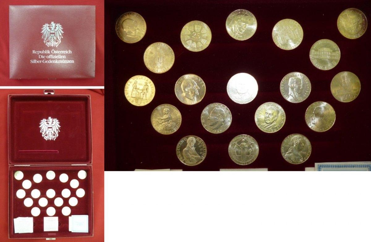 19 X 25 Schilling 20 X 50 Silbermünzen Verschiedener österreich