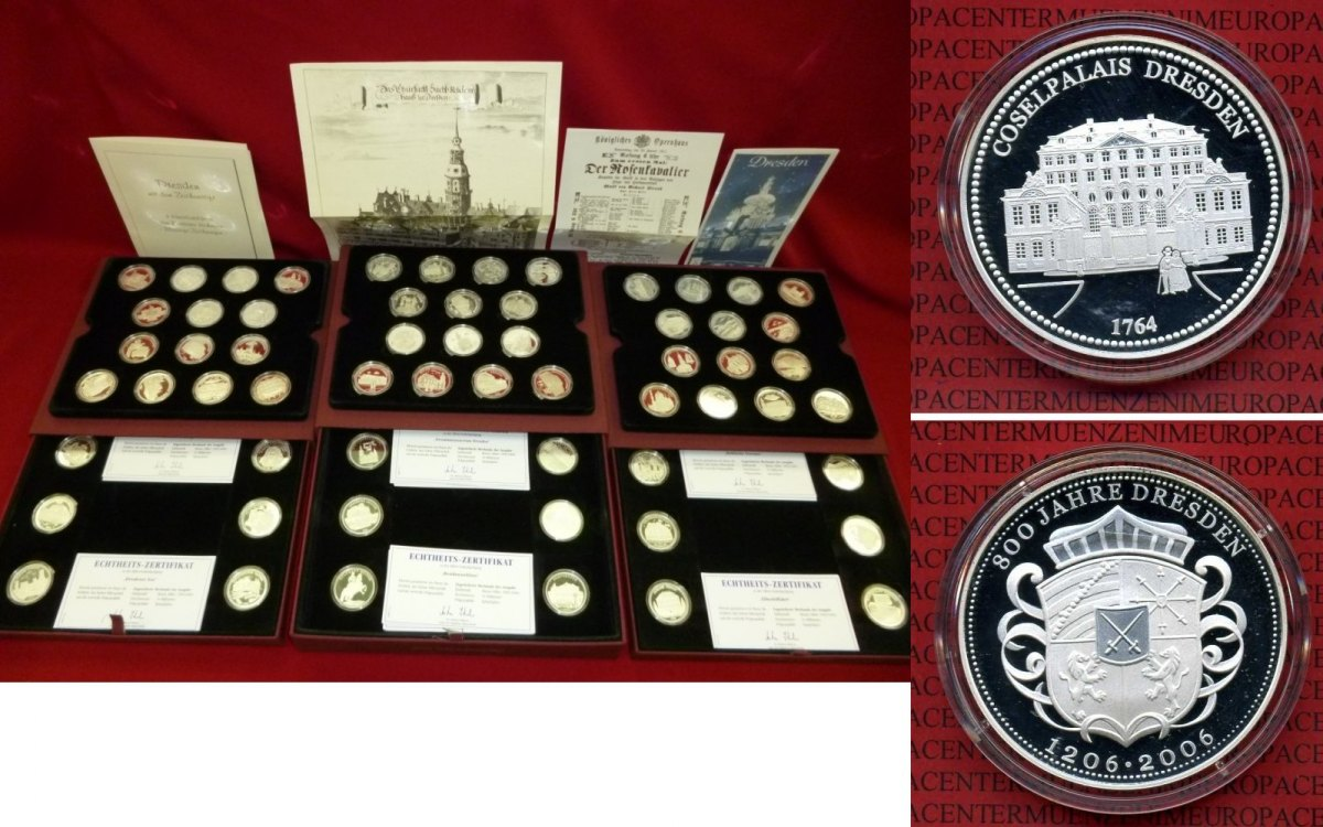 Medaillenset 60 X Silber 2006 Deutschland Dresden 60 Medaillen Set