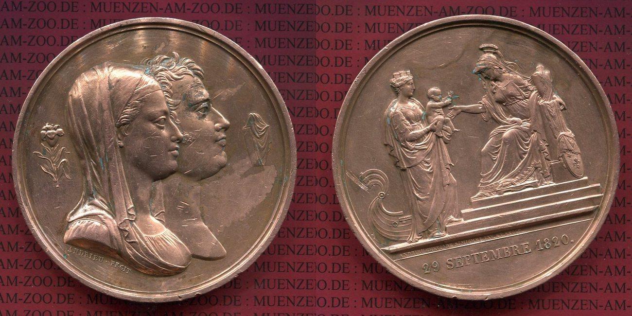 Bro Medaille Von Andrieu 1820 Frankreich Frankreich Bro Medaille Von