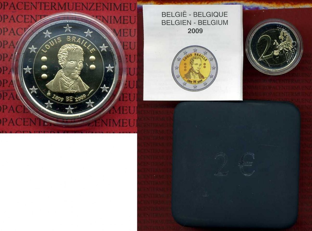 2 Euro Gedenkmünze 2009 Belgien Belgium Belgie Belgien 2 Euro 2009