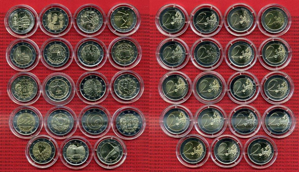wie viele verschiedene 2 euro münzen gibt es