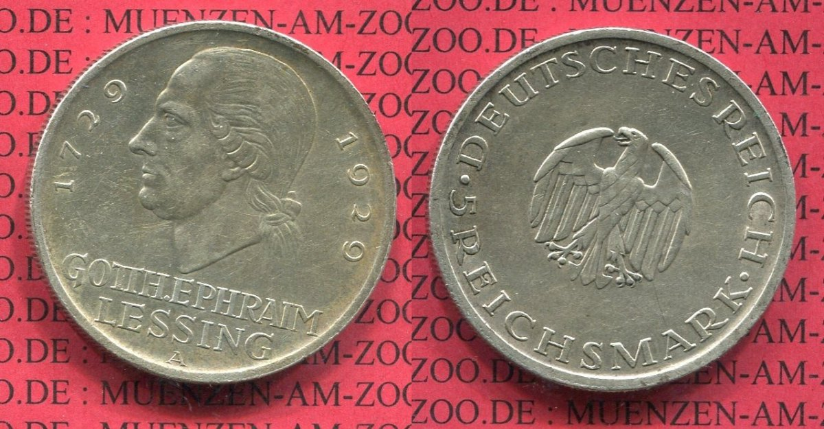 5 Mark Gedenkmünze Commemorative Silver 1929 A Weimarer Republik