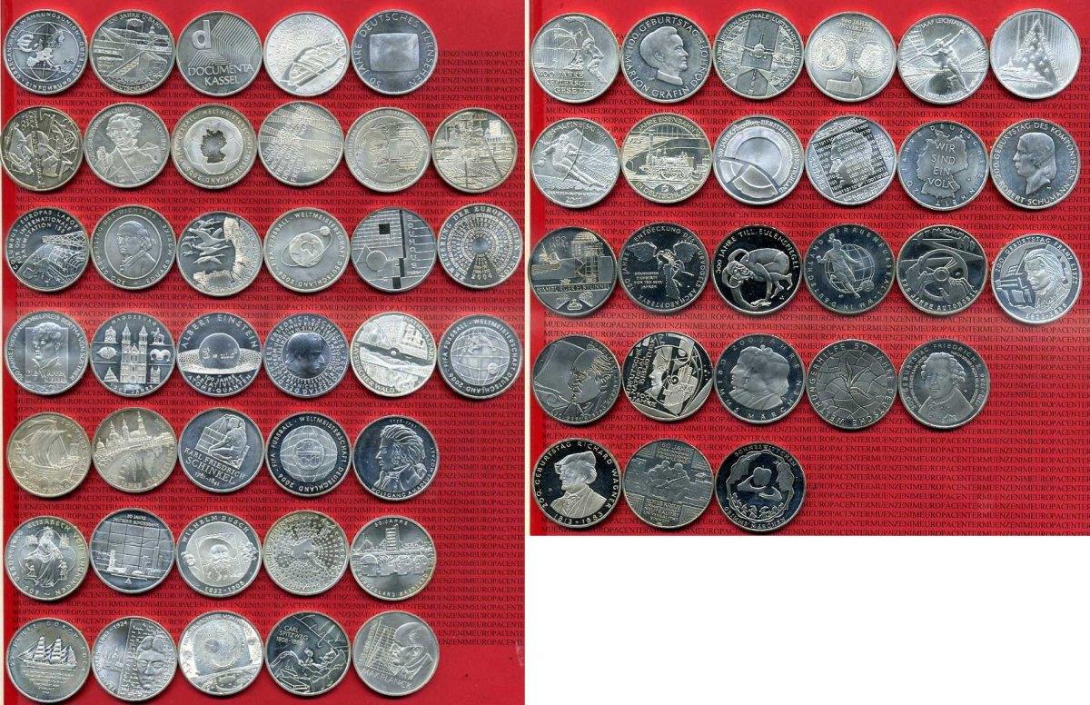 64 X 10 Euro Münzen 2002 2013 Bundesrepublik Deutschland Deutschland
