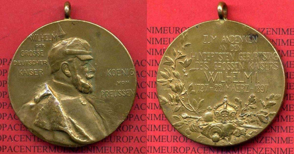 Medaille 1897 Preußen Deutsches Reich Preußen Medaille Wilhelm Der