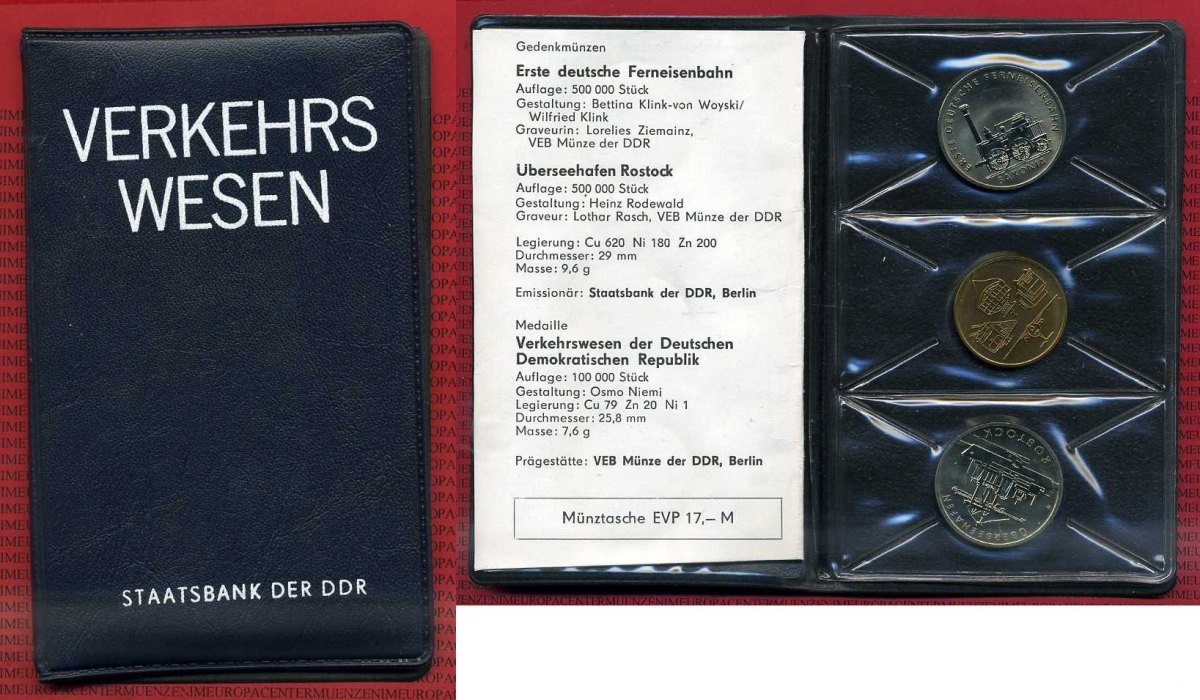 2 X 5 Mark Themensatz Verkehrswesen 1988 Ddr Eastern Germany Gdr Ddr