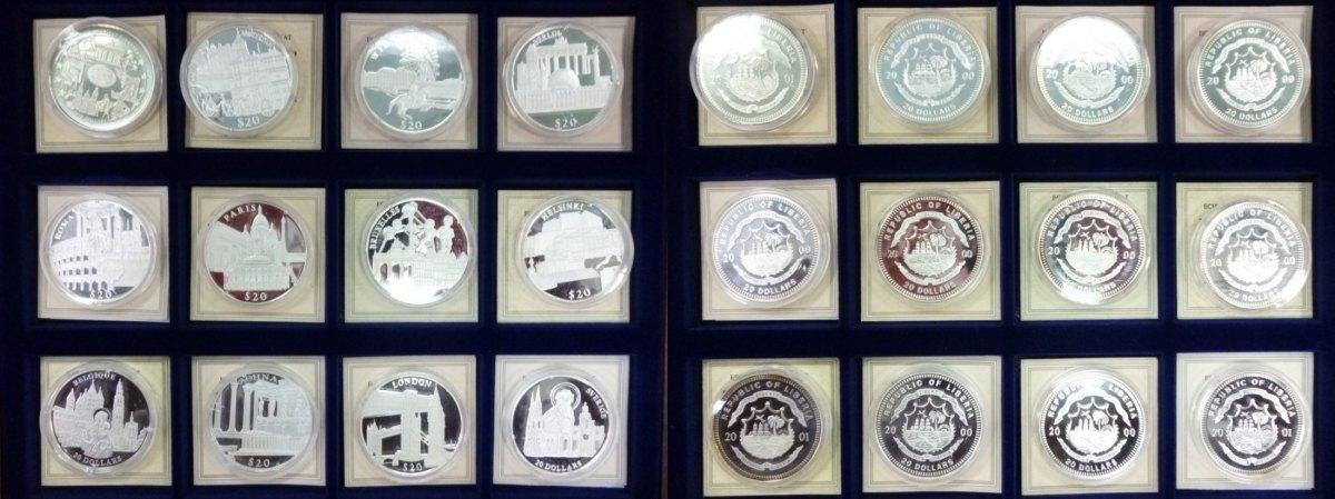 20 Dollar Münzen 2000 Liberia Liberia 11 X 20 Dollars Silber Und 1 X