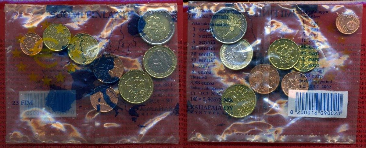 Starterkit 3,88 Euro 1999-2001 Finnland Starterkit Ovp 3,88 Euro Nominalwert