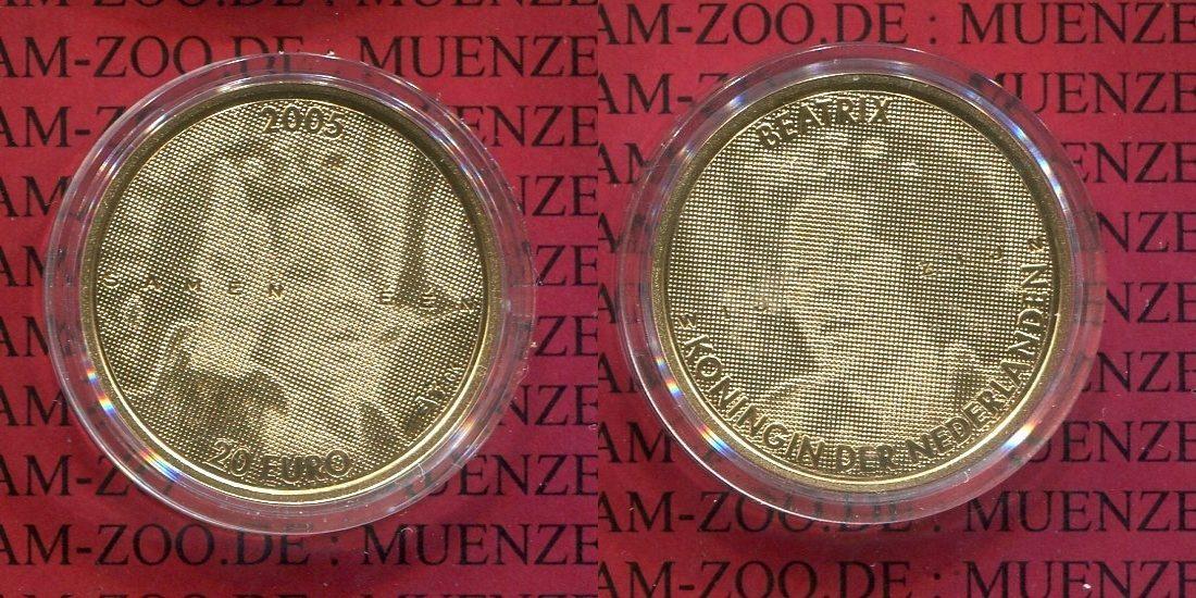 20 Euro Goldmünze 2005 Niederlande Netherlands Holland Niederlande