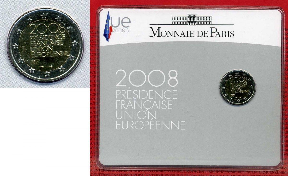 2 Euro Münze 2008 Frankreich France 2 Euro Commemorative Frankreich