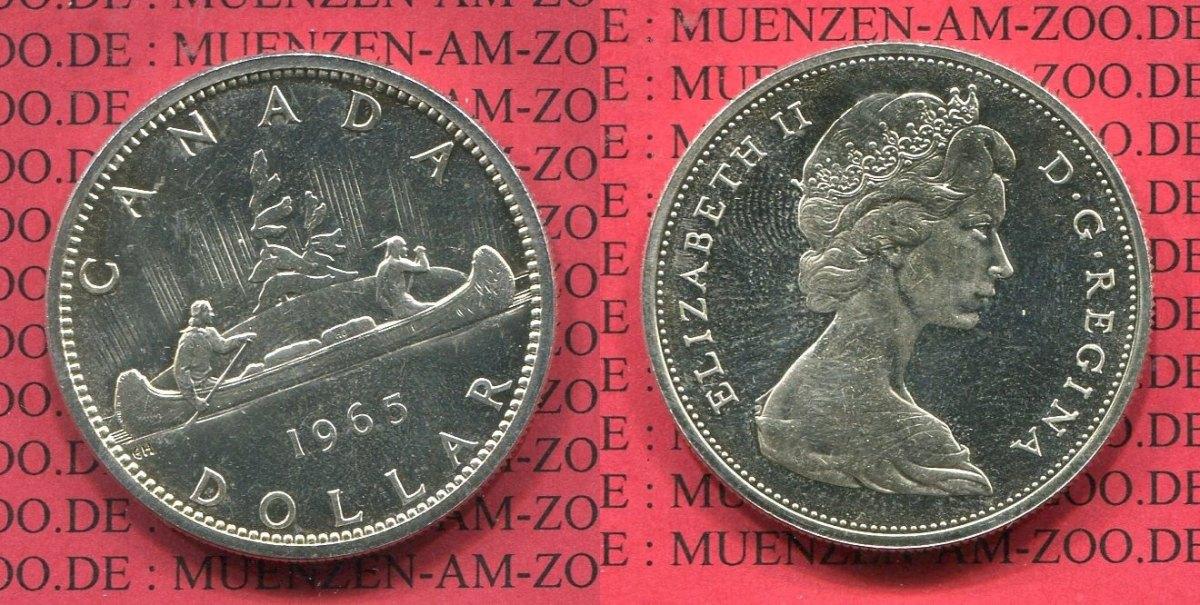1 Dollars Silbermünze 1965 Kanada Canada Kanada 1 Dollar Silber
