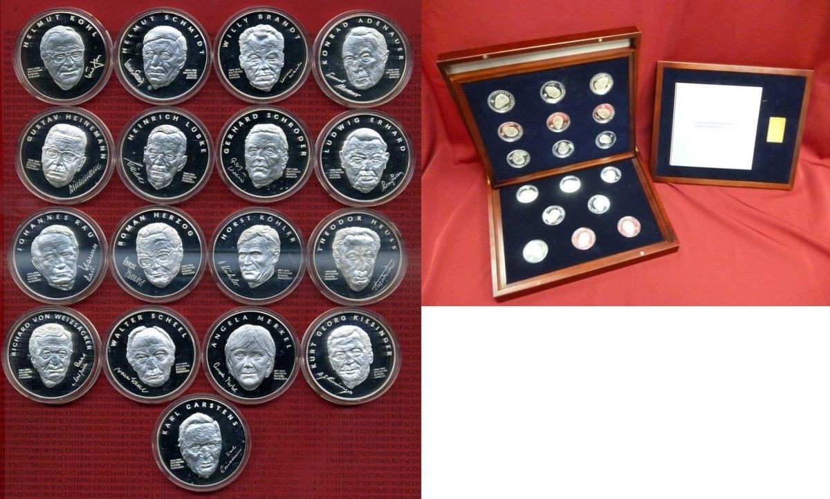 Medaillenset 17 Stück 999er Silber Deutschland Medaillensatz Die