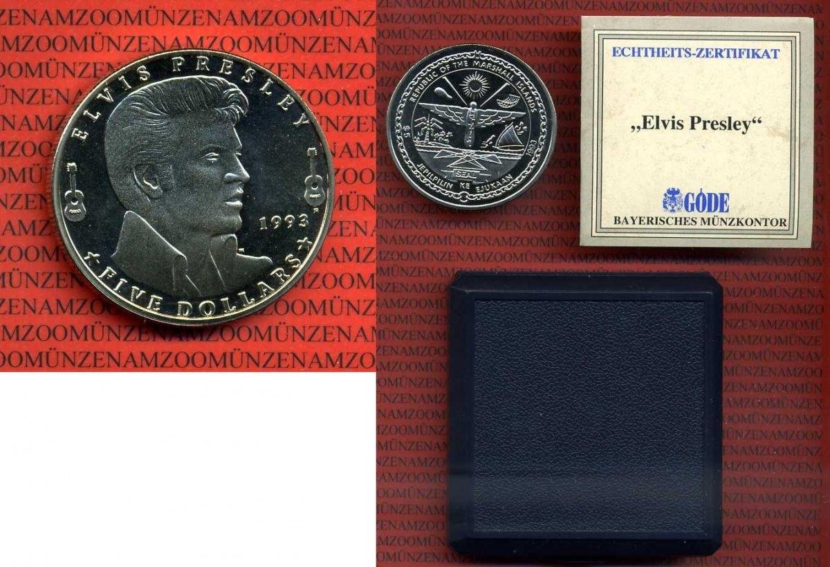 5 Dollar Silbermünze 1993 Marshallinseln Marshall Islands Marshall