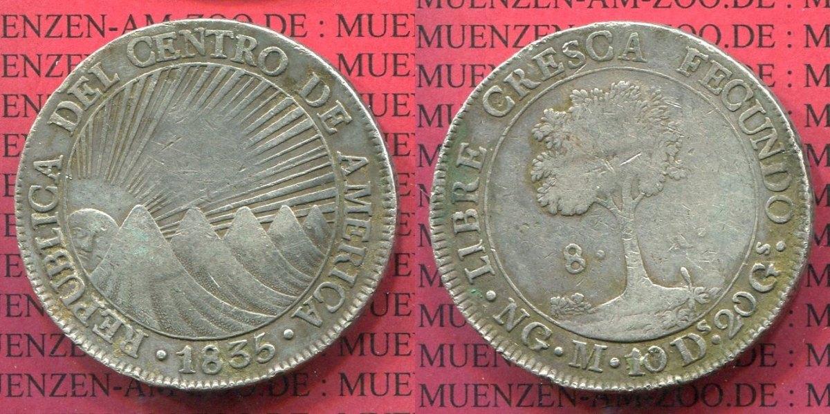 8 Reales 1840 Zentralamerikanische Republik Central American