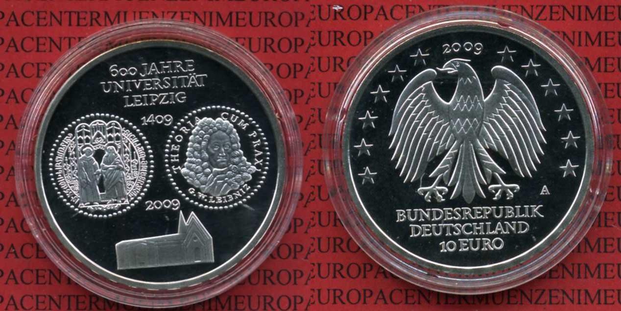 10 Euro Silber Gedenkmünze Deutschland 2009 Bundesrepublik