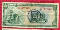 Bundesrepublik Deutschland berlin 20 DM  Deutsche Mark Kopfgeld Bundesrepublik Deutschland, 20 DM  Deutsche Mark 1948 Kopfgeld B-Stempel