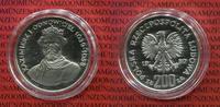 Polen, Poland 200 Zloty Silbermünze Polen 200 Zloty Königsserie Kazimierz I Odnowiciel