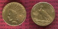 USA 10 Dollars Eagle Indian Head USA 10 Dollars Indianerkopf, Indian Head, 1909 S Gold
