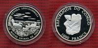 Kongo Republik 1000 Francs Silbermünze Kongo 1000 Francs 2006 Weißkopfruderente, Ente PP
