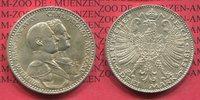 Sachsen Weimar Eisenach 3 Mark Silber Gedenkmünze Sachsen Weimar Eisenach 3 Mark 1915  Jahrhundertfeier, J. 163, vz-prfr.