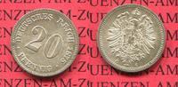 Kaiserreich 20 Pfennig Silbermünze 20 Pfennig Silber, 1875 C J. 5 , kleiner Adler