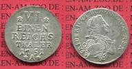 Brandenburg Preußen Königreich 1/6 Taler Silber Preußen Friedrich II., Der Große 1/6 Taler 1751 A Berlin