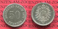 Kaiserreich 50 Pfennig 50 Pfennig Silber, 1877 A J. 8