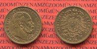 Preußen, Purssia German Empire 20 Mark Goldmünze Preußen 20 Mark Gold 1873 C Wilhelm I.
