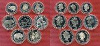 Cook-Inseln Lot von 8 Münzen Cook Islands 5 x 50 Dollar + 3 x 10 Dollar 1990 Tiermotive Lot