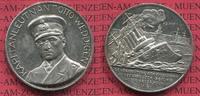 Medaille Kaiserreich 1. Weltkrieg Medaille Silber Weddigen, Kommandant U 9 Versenkung Aboukir, Hogue, Cressy 22.9.1914