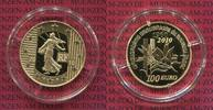 100 Euro Goldmünze Goldcoin 2010 Frankreic...