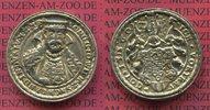 Sachsen Weimar Eisenach Silbermedaille Guss Zeitgenössich Johann Wilhelm  Brustbild mit Barett von vorn behelmtes Wappen RR Selten