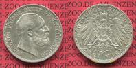 2 Mark Silbermünze Kaiserreich 1891 Oldenburg Oldenburg 2 Mark 1891 , N... 395,00 EUR  +  8,50 EUR shipping