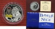 Frankreich 1 1/2 Euro Silbermünze, Farbmünze Blanche Neige, Snow White, Schneewittchen 1,5 Euro 2002